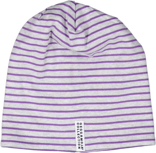 Geggamoja Topline Beanie Grey strip