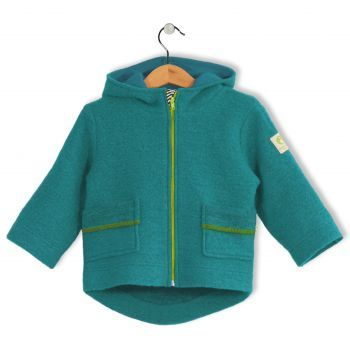 Bubble Kid Wollwalkjacke aqua