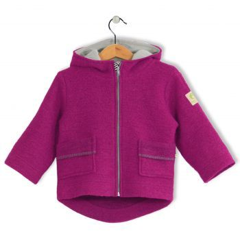 Bubble Kid Wollwalkjacke granat